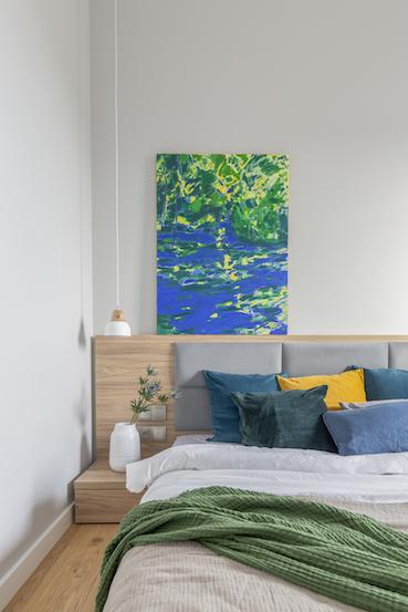 przytulna nowoczesna sypialnia