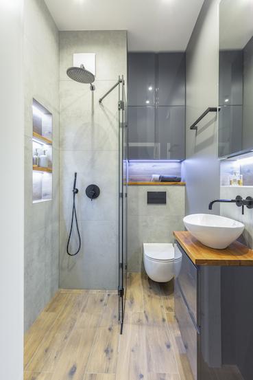 nowoczesna męska łazienka