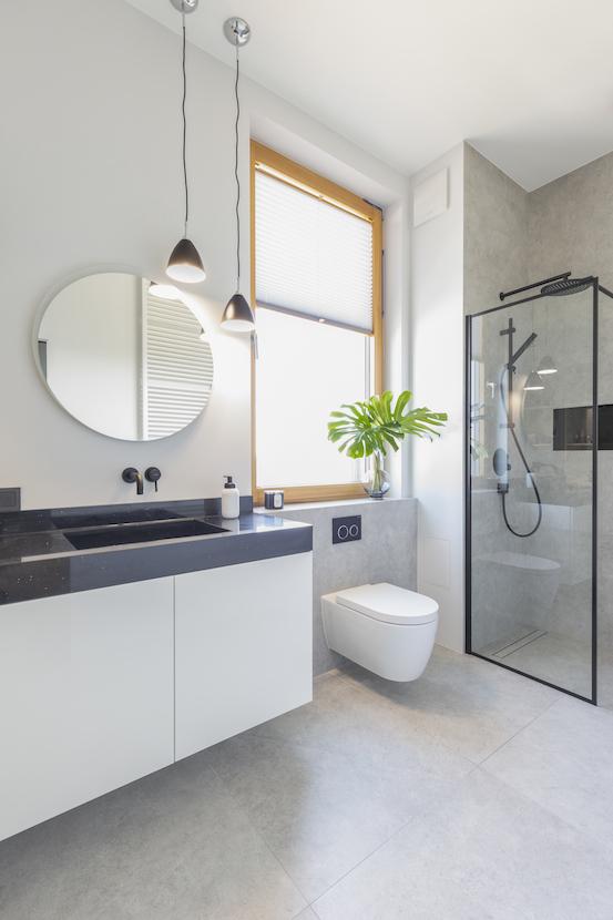 elegancka łazienka prysznic